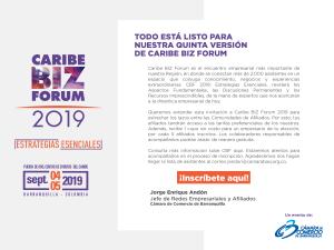 Caribe BIZ FORUM 2019 Estrategia Esenciales @ Centro de Evento Puerta de Oro