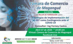 Estrategias de implementación del SG-SST como contingencia ante el COVID 19 @ FACEBOOK LIVE CÁMARA DE COMERCIO MAGANGUÉ