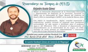 Capacitación Reinventarse en tiempos de Covid @ facebook live Cámara de Comercio Magangué