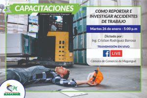 COMO REPORTAR E INVESTIGAR ACCIDENTES DE TRANSITO. @ FACEBOOK CÁMARA DE COMERCIO MAGANGUÉ