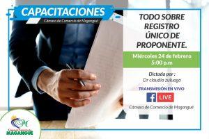 TODO SOBRE REGISTRO ÚNICO DE PROPONENTES. @ FACEBOOK CÁMARA DE COMERCIO MAGANGUÉ