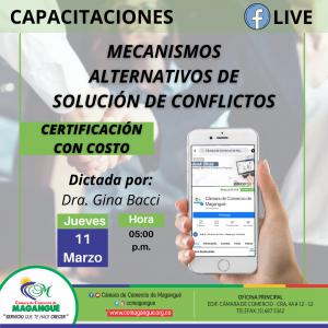 CAPACITACIÓN MECANISMOS ALTERNATIVOS DE SOLUCIÓN DE CONFLICTO. @ FACEBOOK CÁMARA DE COMERCIO MAGANGUÉ