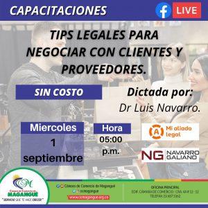 TIPS LEGALES PARA NEGOCIAR CON CLIENTES Y PROVEEDORES. @ FACEBOOK CÁMARA DE COMERCIO MAGANGUÉ